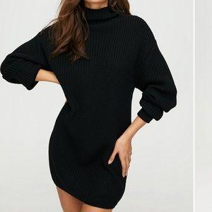 Aritzia Wilfred Montpellier black sweater dress 1